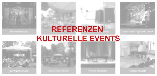 Referenzen Kulturelle Events | perfect sound GmbH Veranstaltungstechnik, Bühnentechnik und Showtechnik