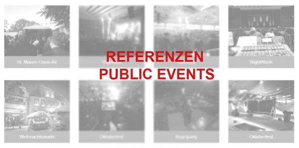 Referenzen Public Events | perfect sound GmbH Veranstaltungstechnik, Bühnentechnik und Showtechnik